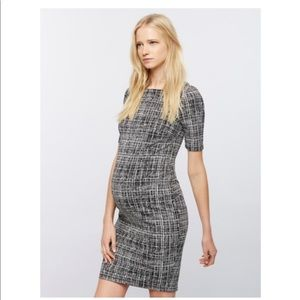 Textured Bodycon Maternity Dress